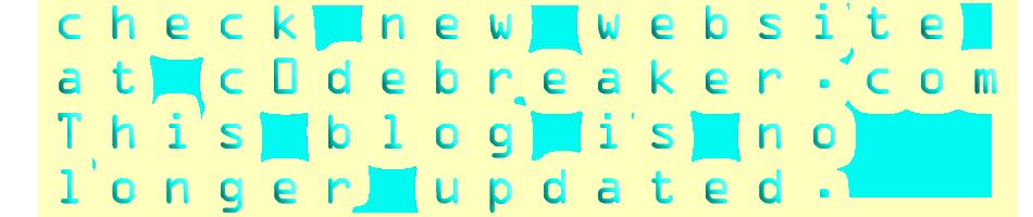 new site @ c0debreaker.com